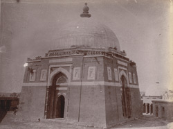 Close view of Ghiyath-ud-Din Tughluq's Tomb, Delhi.